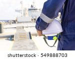engineer on the deck of the... | Shutterstock . vector #549888703