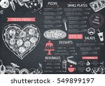 vintage menu design for cafe or ... | Shutterstock .eps vector #549899197