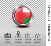 circle flag of oman in glossy... | Shutterstock .eps vector #549906163