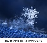 beautiful snow flake ice... | Shutterstock . vector #549909193