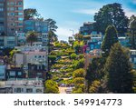 famous lombard street  san...   Shutterstock . vector #549914773