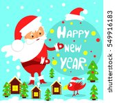 festive greeting card. happy... | Shutterstock . vector #549916183