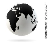 highly detailed earth globe... | Shutterstock .eps vector #549919267