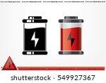 battery icon vector eps 10 ... | Shutterstock .eps vector #549927367