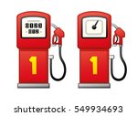red gas fuel pump isolated....   Shutterstock .eps vector #549934693