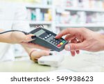 shopping at the pharmacy with a ... | Shutterstock . vector #549938623