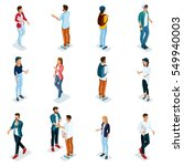 trendy isometric young people ... | Shutterstock .eps vector #549940003