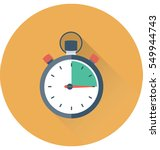 stopwatch vector icon | Shutterstock .eps vector #549944743