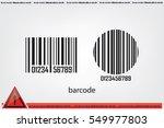 bar code  icon vector... | Shutterstock .eps vector #549977803
