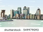 sketch cityscape of london ... | Shutterstock . vector #549979093