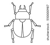 scarab beetle icon. outline... | Shutterstock .eps vector #550000987