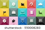 icons vector collection.... | Shutterstock .eps vector #550008283