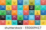 thin lines icons set with... | Shutterstock .eps vector #550009417
