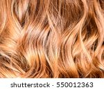 honey balayage hair on young... | Shutterstock . vector #550012363