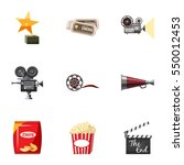movie theater icons set.... | Shutterstock . vector #550012453