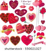 valentines day clipart | Shutterstock .eps vector #550021327