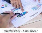 business team working on laptop ...   Shutterstock . vector #550053907