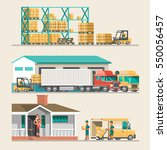 delivery service concept. 3d... | Shutterstock .eps vector #550056457