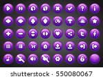 set of round buttons in cartoon ... | Shutterstock .eps vector #550080067