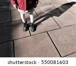 silhouette of a girl standing...   Shutterstock . vector #550081603