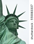 the statue of liberty at new... | Shutterstock . vector #550083337