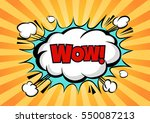 comic speech bubble with... | Shutterstock .eps vector #550087213