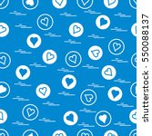 cute seamless pattern with... | Shutterstock .eps vector #550088137