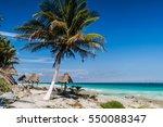 perfect caribbean beach in... | Shutterstock . vector #550088347