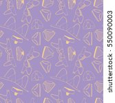seamless pattern with cute hand ... | Shutterstock .eps vector #550090003
