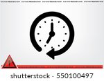 clock icon vector.   Shutterstock .eps vector #550100497