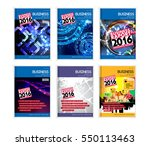 set of business design templates | Shutterstock .eps vector #550113463