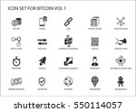 bitcoin vector icons | Shutterstock .eps vector #550114057