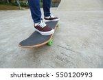 young skateboarder legs riding...   Shutterstock . vector #550120993