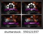 casino card design   vintage... | Shutterstock .eps vector #550121557