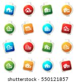 house type color icon for web... | Shutterstock .eps vector #550121857