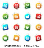 shopping bascket color icon for ... | Shutterstock .eps vector #550124767
