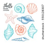 hand drawn vector illustrations ... | Shutterstock .eps vector #550128307