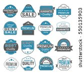 set of vintage labels for sale... | Shutterstock .eps vector #550135903