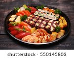 Mixed Sushi Roll And Sashimi...