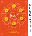 greeting card with flowers and... | Shutterstock .eps vector #550156933