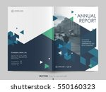 cover design annual report... | Shutterstock .eps vector #550160323