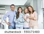portrait of happy family with... | Shutterstock . vector #550171483