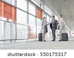 full length of businesspeople... | Shutterstock . vector #550175317
