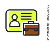 business id card icon color