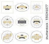 hipster logo concept | Shutterstock .eps vector #550241077