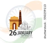 republic day vector  | Shutterstock .eps vector #550259113