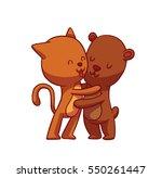 vector cartoon image of cute... | Shutterstock .eps vector #550261447