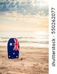 surfing board with australian... | Shutterstock . vector #550262077