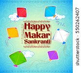 illustration of makar sankranti ... | Shutterstock .eps vector #550262407