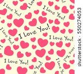 hearts seamless pattern... | Shutterstock .eps vector #550274053